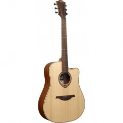 Lâg T70DC - Guitare Dreadnough table épicéa massif cutaway