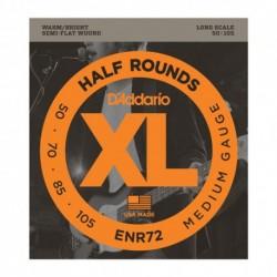 D'Addario ENR72 - Cordes 50-105 half round pour basse électrique