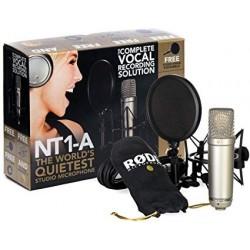 Rode NT1A - Pack micro studio avec anti-pop et câble XLR