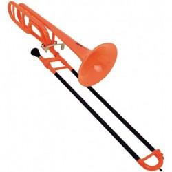 Cool Wind CTB-200OG - Trombone complet plastique orange et noir