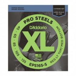 D'Addario EPS165-5 - Cordes 45-135 Pro Steel pour basse électrique