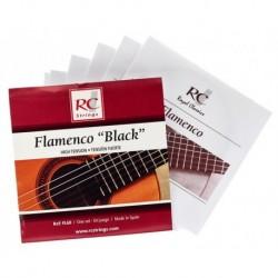 Royal Classic FL60 - Cordes Flamenco nylon noir pour guitare classique