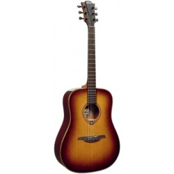 Lâg T100D-BRS - Guitare acoustique table cèdre massif sunburst