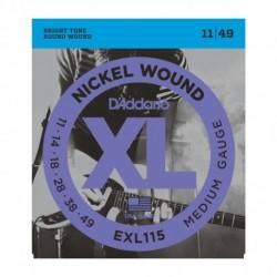 D'Addario EXL115 - Jeu de cordes 11-49 pour guitare électrique