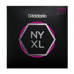 D'Addario NYXL45100 - Jeu de cordes NYXL 45-100 pour basse électrique