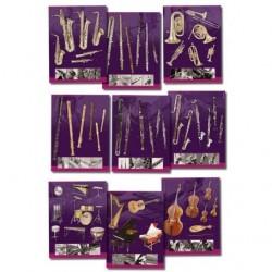 Fuzeau 3970 - 9 Posters sur les Instruments de musique