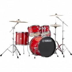 """Yamaha RDP0F5RDCPSET - Batterie acoustique Fusion 20"""" Hot Red avec hardware et cymbales"""