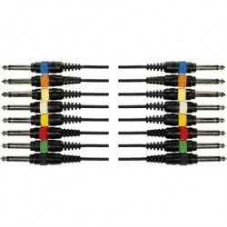 Yellow Cable OC02 - Octopaire 8 jack mono 8 jack mono 5 m