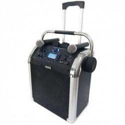 BST PWA-120 - Sonorisation sur batterie 50w USB/BT/SD/MP3 avec 2 micros sans fils