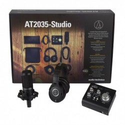 Audio Technica AT2035-STUDIO - Micro studio AT2035 bundle avec casque M40X et carte son Audient iD14