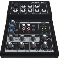 Mackie MIX5 - Mixeur compact 5 canaux, 8 entrées MIX5