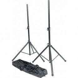 RTX SS01-PACK - Pack 2 stand enceintes métal + sac de transport noir
