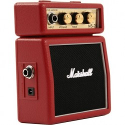 Marshall MS-2R - Mini baffle amplifie rouge
