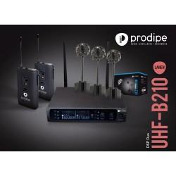 Prodipe UHFAL21DUOPAK - Pack Système Prodipe UHF B210 DSP DUO + Kit micros AL21