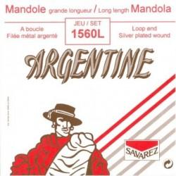 Argentine 1560L - Jeu de cordes pour mandoline 12-54 long 1,20m