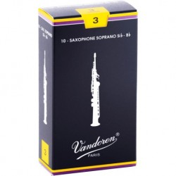 Vandoren SR203 - Anches saxophone soprano Traditionnelles force 3