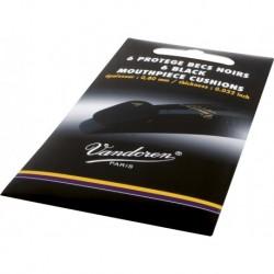 Vandoren VMCX6 - Protège-bec noirs 6 pièces