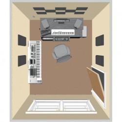Primacoustic LONDON-8-N - Kit de traitement acoustique pour 9 m² noir