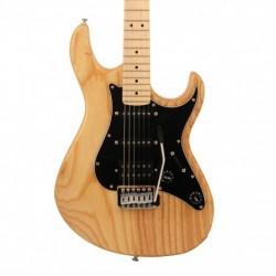 Cort G200DXNAT - Guitare électrique naturel pickguard noir