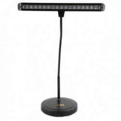 Be1st Pro - Lampe 18 led noir sur socle lesté