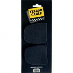 Yellow Cable FW5 - 2 Bonnettes noires pour micro 35cm