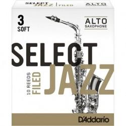 D'Addario RSF10ASX3S - 10 anches pour saxophone alto Eb 3 soft