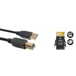 Stagg NCC1-5UAUB - Câble USB 2.0 USB A/USB B (m/m) 15 m