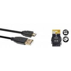 Stagg NCC1-5UAUCB - Série N câble USB 2.0 USB A/micro USB B (m/m) 15 m