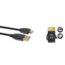 Stagg NCC3UAUCB - Câble USB 2.0 Série N - micro USB B mâle / USB A mâle