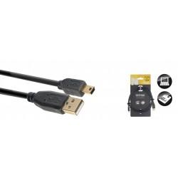 Stagg NCC1-5UAUNB - 1.5M Cable Usb/A-Mini B 2.0