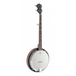 Stagg BJM-30-DL - Banjo Bluegrass Deluxe 5-cordes avec corps en métal