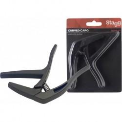"""Stagg SCPX-CU-BK - Capodastre courbé type""""trigger""""(gachette) p.guitare électrique/acoustique"""