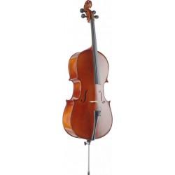 Stagg VNC-4/4 - Violoncelle 4/4 en épicéa massif avec housse