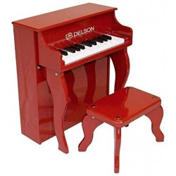 Delson 2505-R - Piano droit enf rouge