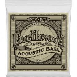 Ernie Ball 2070 - Jeu de cordes earthwood phosphor bronze 45-95 pour basse acoustique