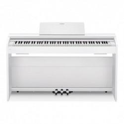 Casio PX-870WE - Piano numérique compact 88 touches avec meuble blanc