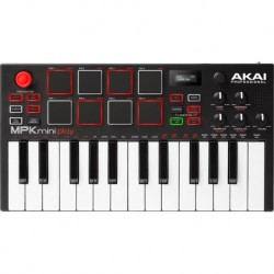 Akai Pro MPKMINIPLAY - Clavier maitre usb avec 128 sons 25 notes