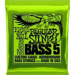Ernie Ball 2836 - Jeu de cordes 45-130 pour basses électrique 5 cordes