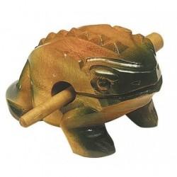 Roots GRENOUILLE-10 - Guiro 10cm forme grenouille avec batte