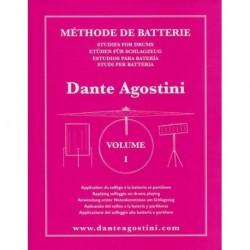 Dante Agostini - Méthode de Batterie - Volume 1 - Recueil