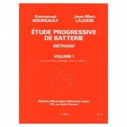 Boursault/ Lajudie - Etude Progressive de Batterie 1 - Recueil
