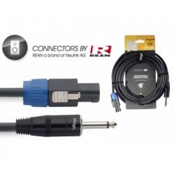 Stagg NSP10SP15R - Câble professionnel haut-parleur, série N: 2x 1,5mm2 - SpeakON / Jack - 10m