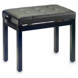 Stagg PB36 BKM SBK - Banquette de piano noir mat avec pelote en skai noir