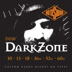 Rotosound DZ10 - Jeu de cordes Dark Zone 10-60 pour guitare électrique