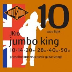 Rotosound JK10 - Jeu de cordes Phosphor Bronze 10-50 pour guitare acoustique