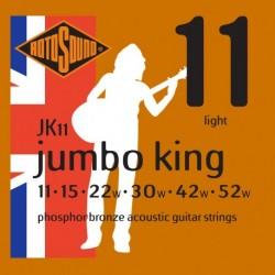 Rotosound JK11 - Jeu de cordes Phosphor Bronze 11-52 pour guitare acoustique