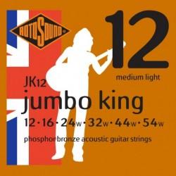 Rotosound JK12 - Jeu de cordes Phosphor Bronze 12-54 pour guitare acoustique