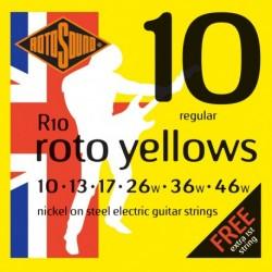 Rotosound R10 - Jeu de cordes nickel 10-46 pour guitare électrique