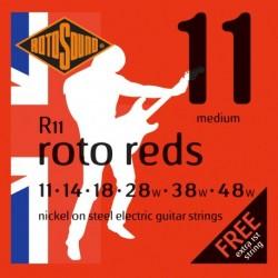 Rotosound R11 - Jeu de cordes nickel 11-48 pour guitare électrique