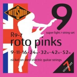 Rotosound R9-7 - Jeu de 7 cordes nickel 9-46 pour guitare électrique